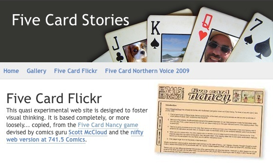 Five Card Flickr home page