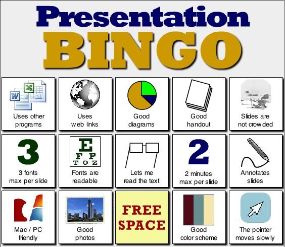 presentation bingo | nspired2: learning technology in higher ed., Modern powerpoint