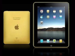 A gold iPad is not on the list