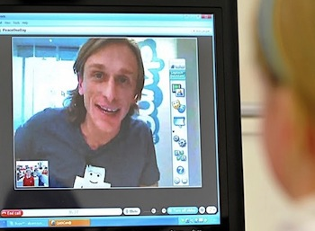 Skype call on Peace One Day