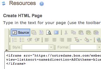 Editing HTML in Sakai