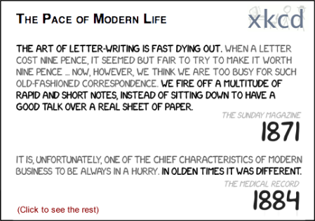 xkcd The Pace of Modern Life