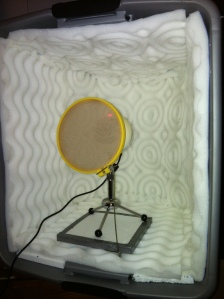 DIY sound booth