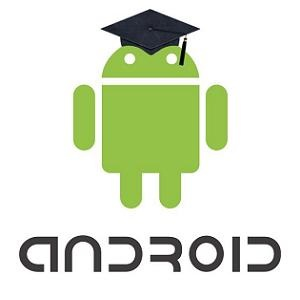 Android logo with mortarboard