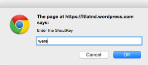 enter ShoutKey